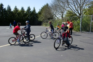 Happy Kids on Bikes at West Woodland